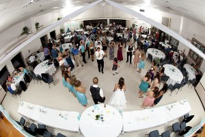 Megan and Derek's wedding reception - fisheye photo